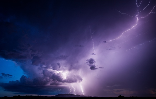 Picture the storm, clouds, element, lightning