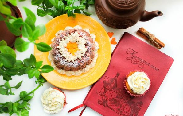 Picture winter, orange, cinnamon, cake, winter, cupcake, spicy, cooking, Christmas cupcake, cookbook