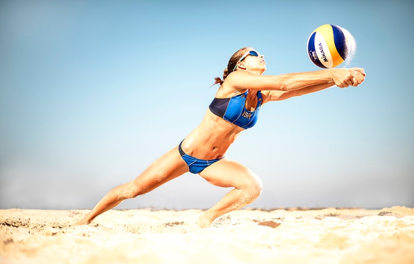 Picture the ball, athlete, beach volleyball, beach-voley, volleyball player