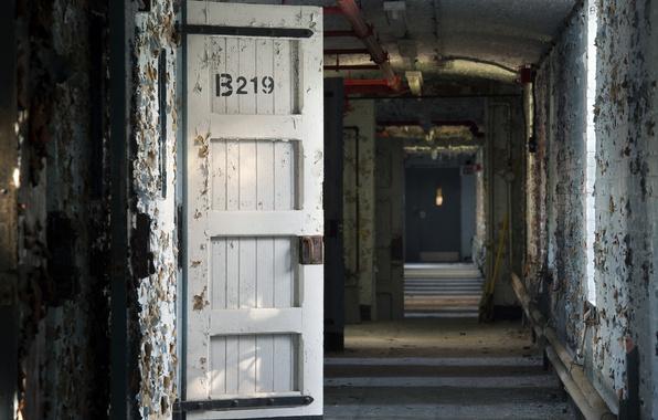 Picture background, door, corridor