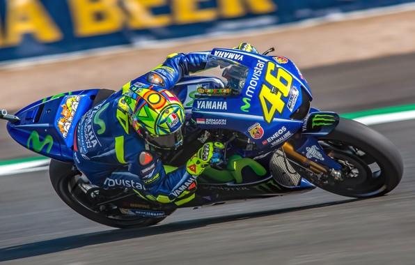 Picture speed, motorcycle, Yamaha, MotoGP, Motorsport, Valentino Rossi, racing, British Grand Prix Silverstone 2017