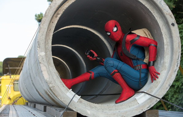 Picture iphone, spider man, film, peter parker, spider man: homecoming