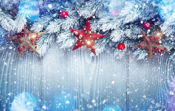 Picture winter, snow, decoration, tree, New Year, Christmas, happy, Christmas, winter, snow, New Year, Merry Christmas, ...