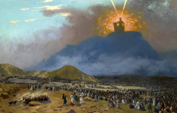Picture picture, religion, mythology, Jean-Leon Gerome, Moses on Mount Sinai