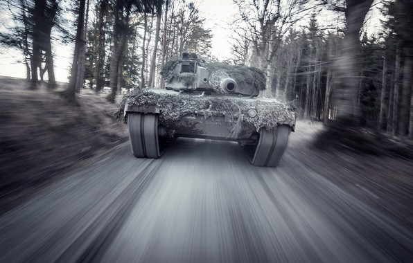 Picture speed, German, main, battle tank, Leopard 2