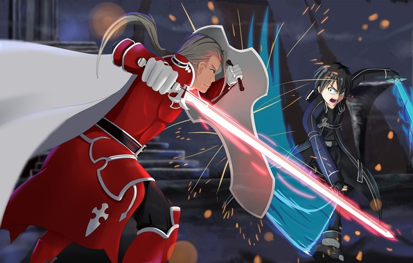 Photo Wallpaper Abec Sword Art Online Kirigaya Kazuto Armor
