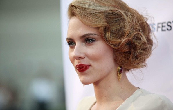 Picture celebrity, hairstyle, Scarlett Johansson, brown hair, sponge, scarlett johansson