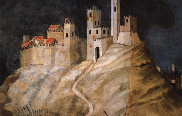 Picture the fence, The city, spears, Yes, guidoriccio Fogliano, GIOVANNI BELLINI AND SIMONE MARTINI