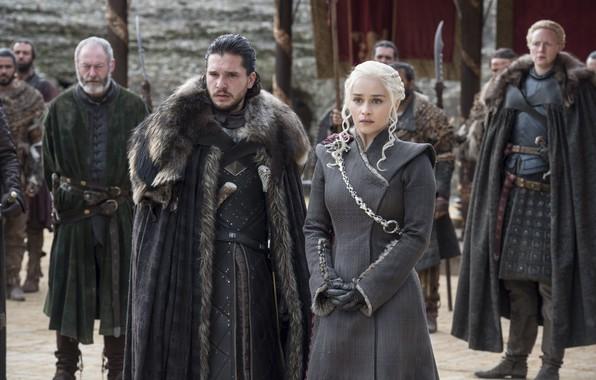 Picture sword, male, sword, Queen, commander, brunette, kit Harington, Jon snow, jon snow, emilia clarke, Emilia …