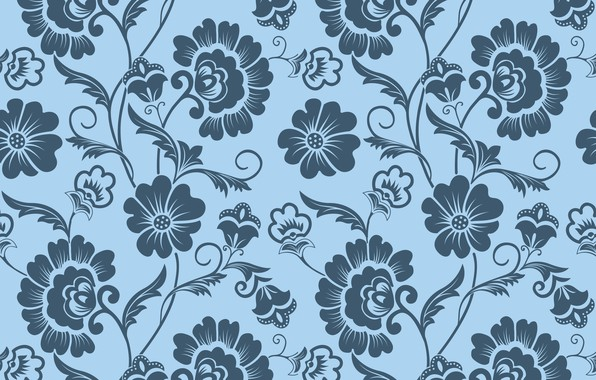 Picture flowers, background, pattern, texture, ornament, vintage