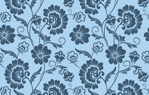 Picture flowers, background, pattern, texture, ornament, vintage