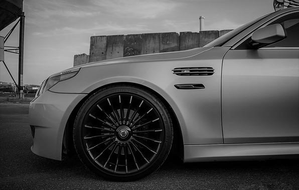 Picture BMW, Grey, BMW M5, Alpina, BLACK, M5, Alpina B3 Biturbo, powered by M