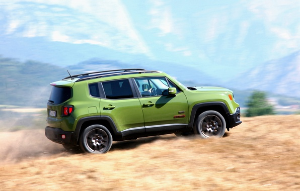 Picture Car, Jeep, Anniversary, 2016, Renegade, Green, Worldwide, 75th