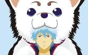 Picture background, dog, gintama, Gintama