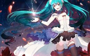 Picture girl, anime, hatsune miku, Vocaloid, Hatsune Miku
