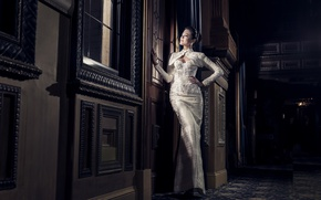Picture girl, style, figure, dress, Asian