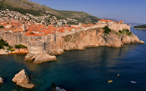 Picture sea, rocks, home, Croatia, Dubrovnik