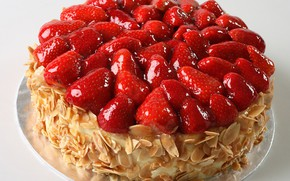 Picture berries, strawberry, cake, nuts