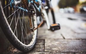 Wallpaper bike, background, street