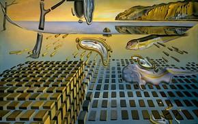 Wallpaper surrealism, picture, Salvador Dali, Salvador Dali, The Disintegration Of Persistence Of Memory