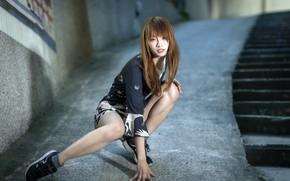 Wallpaper Asian, girl, look