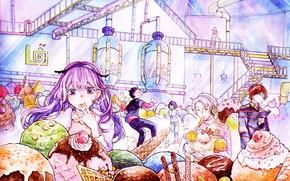 Picture girls, anime, art, boys, tagme artist