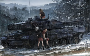 Picture battlefield, girl, game, forest, blizzard, war, anime, snow, germany, asian, german, manga, tank, japanese, oriental, …
