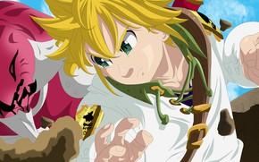 Picture game, anime, Seven Deadly Sins, oriental, asiatic, Nanatsu no Taizai, manga, japonese