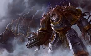 Picture warhammer, chaos, art, Warhammer 40k, Iron Warrior Obliterator