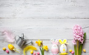 Wallpaper candy, decor, wood, Easter, Easter, holiday, flowers, eggs, flowers