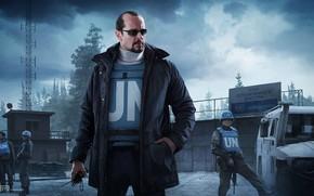 Picture soldiers, UN, Escape from Tarkov, EFT, Peacekeeper, Peacemaker, Ivan Vilmont, Escape from Tarceva, Dealer, r.2028, …
