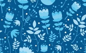Picture texture, vintage, flower, background, pattern, plants