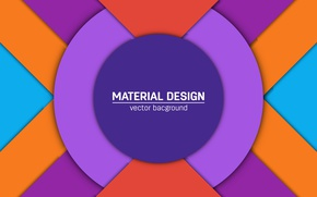 Picture abstraction, round, light, geometry, design, blue, orange, color, violet, material