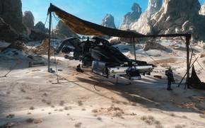 Picture rocks, transport, canopy, Traverse, Server Dust