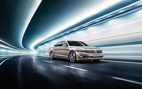 Picture road, light, Tunnel, 2016, Volkswagen Phideon