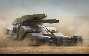 Wallpaper tank, Juan Novelletto, arena, fulgora-20, gun