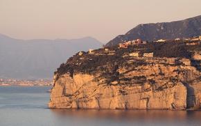 Picture Italy, Campania, bay, Naples, Sorrento, cliffs