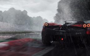 Wallpaper Need For Speed Rivals, supercar, speed, Zonda, rain