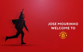 Picture wallpaper, sport, logo, football, Manchester United, Jose Mourinho, manager