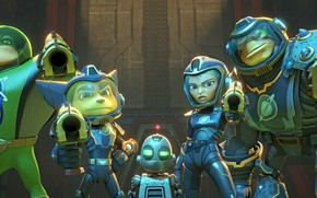 Picture gun, weapon, hero, animated film, seifuku, protector, animated movie, Ratchet and Clank, guardian, Ratchet & …