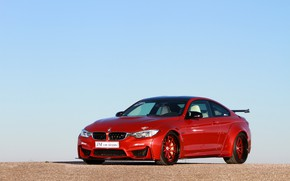 Picture auto, BMW, red, metallic, M4, JM car