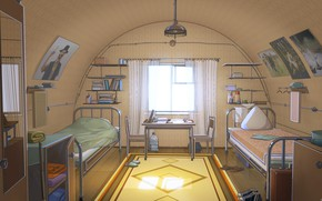 Picture the room, bed, Everlasting Summer, Summer camp, wiring
