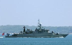 Picture frigate, sukhothai, the Thai Navy