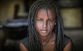Picture portrait, braids, Africa, black, Joachim Bergauer