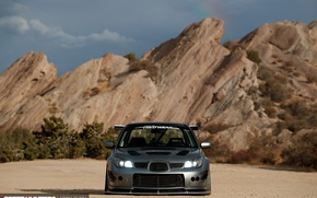Wallpaper Subaru, lights, rocks, WRX, STI, view speedy, light