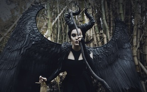 Picture woman, cosplay, Demon