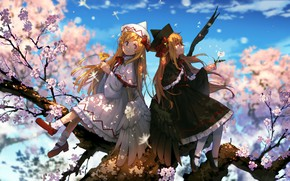 Picture girls, angel, spring