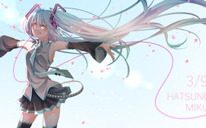 Picture girl, background, hair, Vocaloid, Hatsune Miku