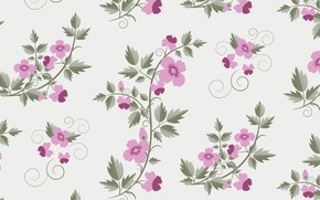 Picture flowers, pink, background