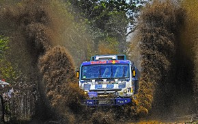 Picture Water, Grass, Sport, Speed, Race, Master, Dirt, Squirt, Russia, Kamaz, Rally, Dakar, Dakar, Rally, KAMAZ, …